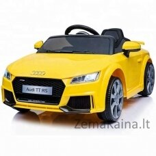 Elektromobilis vaikams AUDI TT RS 12V geltonas