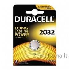Elementas Duracell CR2032 Lithium 3V