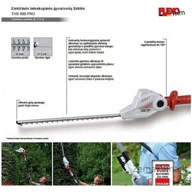 Elektrinė aukštapjovė gyvatvorėms Flexo Trim THS 500 Pro 2