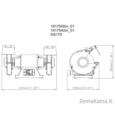 Elektrinis galąstuvas Metabo DS 175 2
