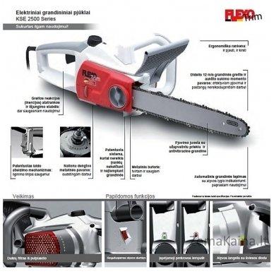 Elektrinis grandininis pjūklas Flexo Trim 2,5 kW KSE 2540 Pro 2