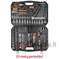 """Galvučių, raktų ir antgalių komplektas NEO 233 dalių, 1/2"""", 3/8"""", 1/4"""""""