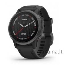 Išmanusis laikrodis Garmin fenix 6S Sapphire, Anglies pilkumo DLC su juodu dirželiu