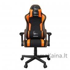"""Gembird GC-SCORPION-04X žaidimų kėdė """"SCORPION"""", juoda ir oranžinė,"""