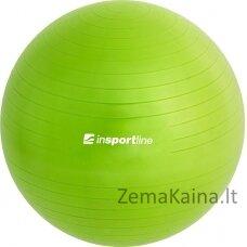 Gimnastikos kamuolys + pompa inSPORTline Top Ball 65cm - Green