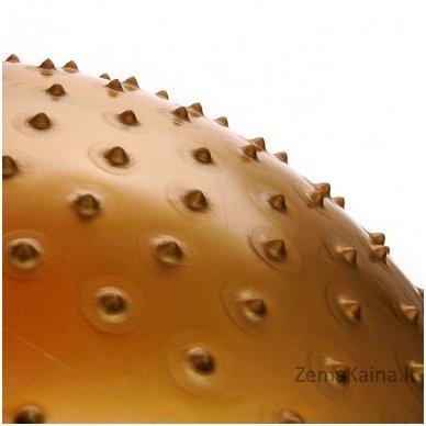 Gimnastikos ir masažo kamuolys Meteor 65 cm auksinis 3