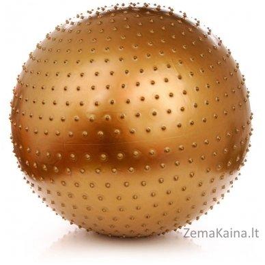 Gimnastikos ir masažo kamuolys Meteor 65 cm auksinis