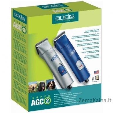 Gyvūnų plaukų kirpimo mašinėlė Andis AGC2 Super 2-Speed Blue 23920 2