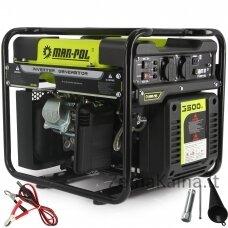 Inverterinis benzininis generatorius MAR-POL 3500W, 2600-3800aps/min (M82482)