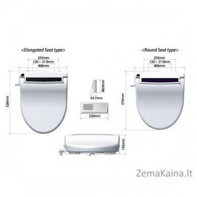 Išmanusis tualeto dangtis - daugiafunkcinis bidė Hyundai HDB-1500 su distanciniu valdymu (prailgintas) 3