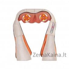 Kaklo ir pečių Shiatsu masažuoklis MMT001 su šildymo funkcija pilkas-oranžinis