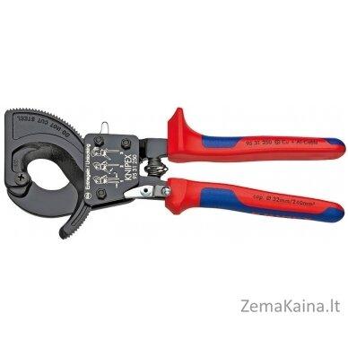 Kabelių kirpimo terkšlinės žirklės D32mm/240mm2, Knipex