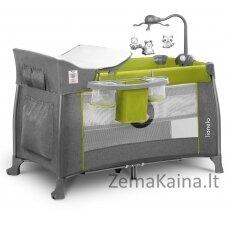 Kelioninė lovytė - maniežas  Lionelo Thomi 2in1 Green Lemon