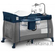 Kelioninė lovytė - maniežas  Lionelo Thomi 2in1 Navy Blue