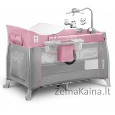 Kelioninė lovytė - maniežas  Lionelo Thomi 2in1  Baby Pink