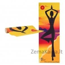 Kilimėlis jogai inSPORTline Medita 173x61x0.3cm - Yellow Pose