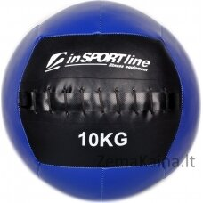 Kimštinis svorinis kamuolys inSPORTline WallBall 10 kg