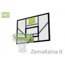 Krepšinio lenta su sustiprintu spyruokliuojančiu lanku Exit Galaxy 116x77cm