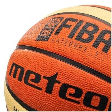 Krepšinio kamuolys METEOR FIBA brown/cream (7 dydis) 2