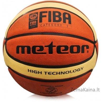 Krepšinio kamuolys METEOR FIBA brown/cream (7 dydis)