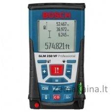 Lazerinis atstumų matuoklis Bosch GLM 250 VF Professional