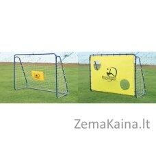 Lengvai surenkami mobilūs futbolo vartai + atmušimo sienelė Spartan 213x152x76cm