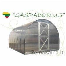 Lietuviškas cinkuoto metalo arkinis šiltnamis Gaspadorius, ilgis 8 m., dangos storis 6 mm
