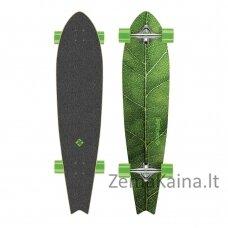 Longboardas Street Surfing Fishtail - The Leaf 42, kinų klevas, ABEC-7 - Silver Truck