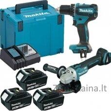MAKITA DLX2284J1 akumuliatorinių elektrinių įrankių rinkinys
