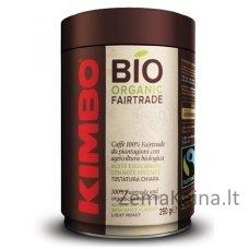 Malta pupelių kava KIMBO Bio Organic Fairtrade, 250 g skardinė