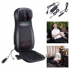 Masažinė sėdynė Tellos  F887B (kaklo, nugaros ir sėdmenų masažuoklis) pilkas