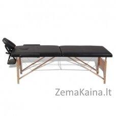 Masažinis stalas VANGALOO 2 zonų sulankstomas  juodas