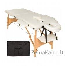Masažinis stalas VANGALOO 2 zonų sulankstomas  kreminis,