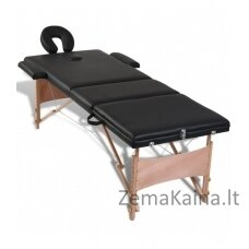 Masažo stalas VANGALOO 3 zonų sulankstomas  juodas