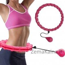 Masažuojantis gimnastikos lankas Hula Hoop HHP002 rožinis