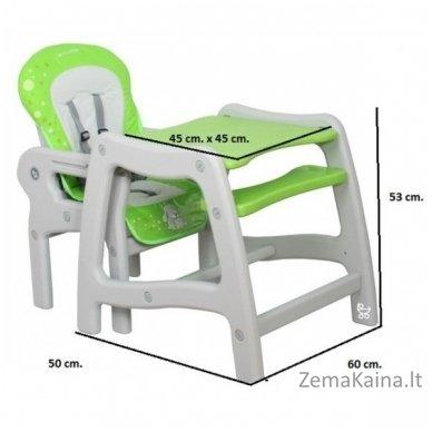 Maitinimo kėdutė Coto Baby Stars Green 3