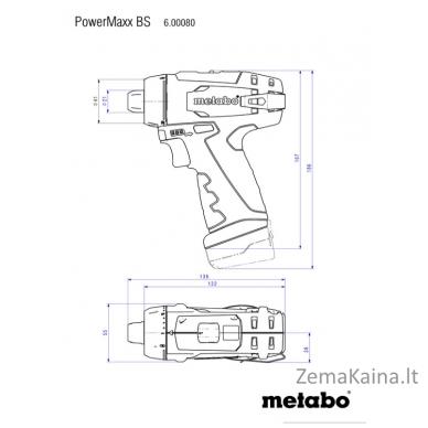 Akumuliatorinis suktuvas-gręžtuvas METABO POWERMAXX BS BASIC SET 2