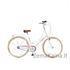 Miesto dviratis Grunberg Holland (Balta/Rožinė) 70CM