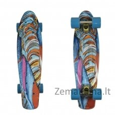 "Mini riedlentė Penny Board ArtFish Elephant 22"" ABEC11 - Silver-Blue"