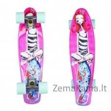 "Mini riedlentė Penny Board ArtFish Girl 22"" ABEC11 - White"