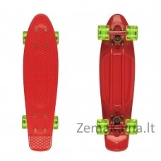 "Mini riedlentė Penny Board Fish Classic 22"" ABEC11 - Red-Red-Transparent Green"