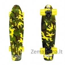 "Mini riedlentė Penny Board Fish Print 22"" ABEC11 - Pineapple-Silver-Orange"