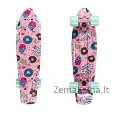 "Mini riedlentė Penny Board Fish Print 22"" ABEC11 - Silver-Yellow Cats"