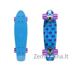 Mini riedlentė Penny Board Fish Print Dots 22ʺ ABEC11 - Blue-Blue