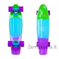 "Mini riedlentė Penny Board Worker Sunbow 22"" ABEC7 - Green-Blue-Violet"