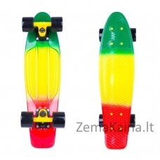 "Mini riedlentė Penny Board Worker Sunbow 22"" ABEC7 - Green-Yellow-Red"