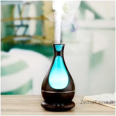 MiniMu oro drėkintuvas su aroma, šviečiantis 7 spalvomis, 400 ml talpos indas vandeniui 2