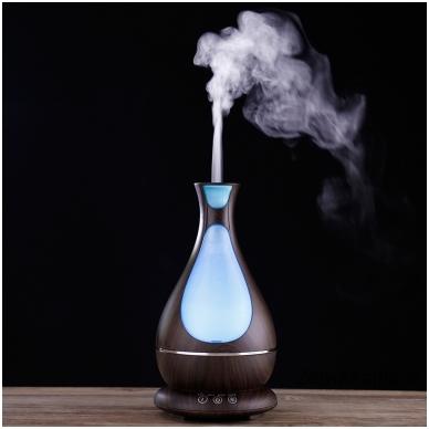 MiniMu oro drėkintuvas su aroma, šviečiantis 7 spalvomis, 400 ml talpos indas vandeniui 3