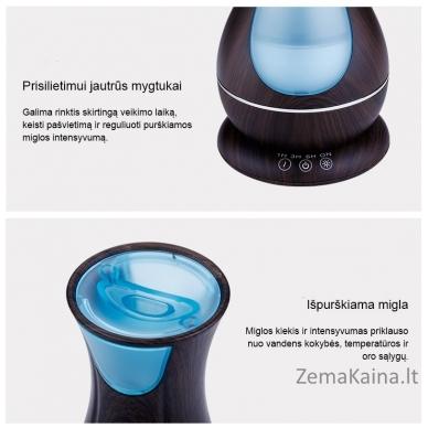 MiniMu oro drėkintuvas su aroma, šviečiantis 7 spalvomis, 400 ml talpos indas vandeniui 5