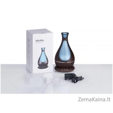 MiniMu oro drėkintuvas su aroma, šviečiantis 7 spalvomis, 400 ml talpos indas vandeniui 4
